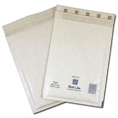 Mail Lite Bubble-Lined Postal Bag Self-Seal White 180x260mm 100pk MLW D/1