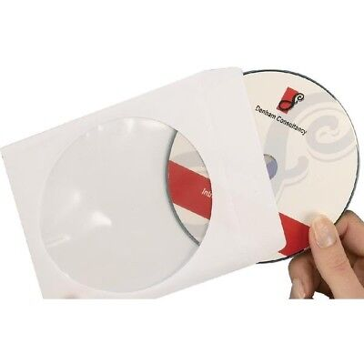 Avery Paper CD/DVD Sleeve Extra Large Window Pack of 100 White