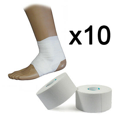 10 Rolls of UP Premium Sports Injury Zinc Oxide Strapping Tape 3.8cm x 13.7m