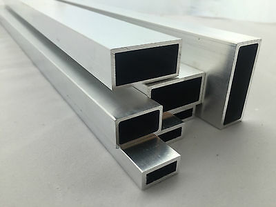 Aluminium Rectangular square box size 12x8-50x50mm up to 1000mm