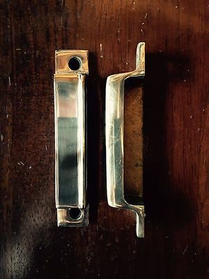SOLID BRASS RIM LOCK DOOR KEEP 115mm ~ BRITISH MADE VICTORIAN RIMLOCK KEEPS BK21