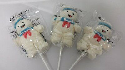 Ghostbusters Stay Puft Mallow Lollies X 18 - Wrapped Halloween Sweets Lollipops