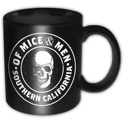 Of Mice And Men Black White Skull Southern Cali Boxed Coffee Gift Mug Official