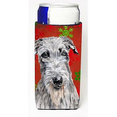 Scottish Deerhound Red Snowflakes Holiday Michelob Ultra bottle sleeves Slim ...