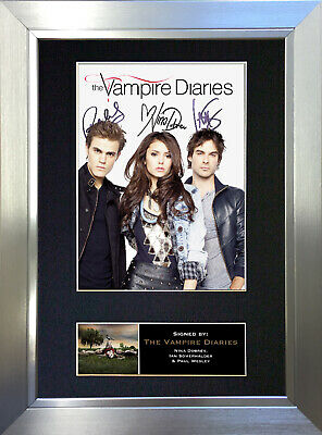 THE VAMPIRE DIARIES Signed Autograph Mounted Reproduction Photo A4 Print no348