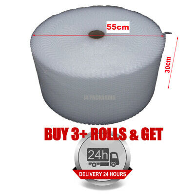 1 ROLL SMALL BUBBLE WRAP ROLL 300mm WIDE x 100 METRES LONG PACKAGING CUSHIONING