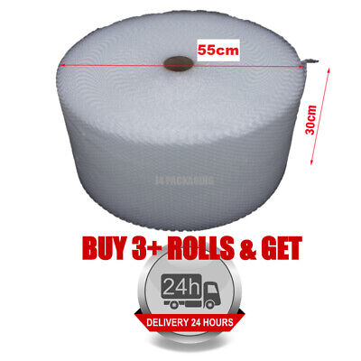 300MM x 100M SMALL BUBBLE ROLLS CUSHIONING QUALITY BUBBLE 100 METERS LONG ROLL