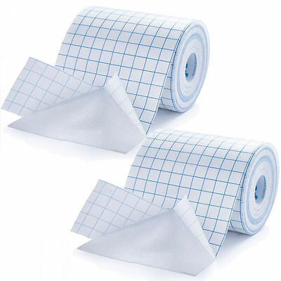 2 x Ultimate Performance Adhesive Fabric Dressing Roll Retention Tape 10cm x 10m