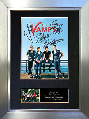 THE VAMPS Signed Autograph Mounted Photo Reproduction A4 Print no469