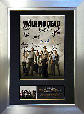 THE WALKING DEAD Signed Autograph Mounted Reproduction Photo A4 Print no330