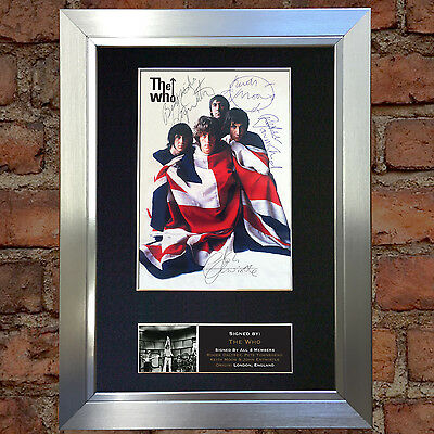 THE WHO Keith Moon Signed Autograph Mounted Photo Reproduction A4 Print no448