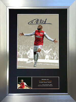 THIERRY HENRY Signed Autograph Mounted Photo Repro A4 Print no462