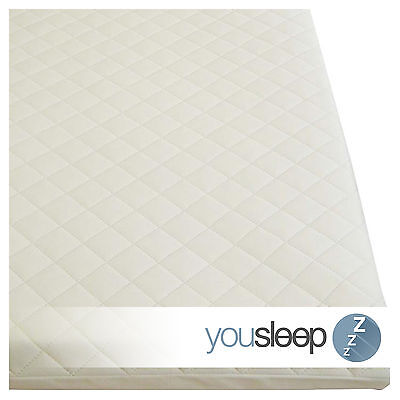 Premium Cot Bed Mattress Baby Toddler Foam Mattress Quilted Cover Size 120x60x10