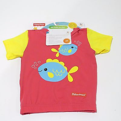 Fisher-Price Sea Buddy Toddler Girl Sun Shirt UPF 50+ 3T