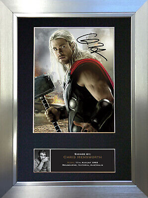 THOR Chris Hemsworth Signed Autograph Mounted Reproduction Photo A4 Print no586