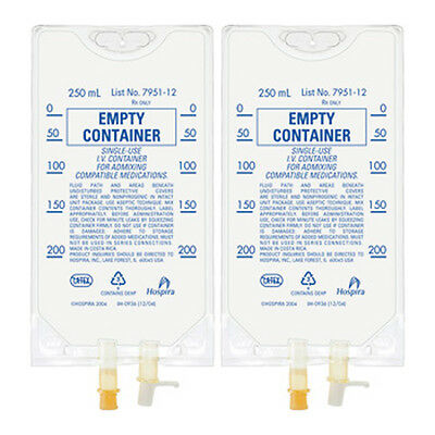 Empty IV Bag Container - 250ml - Pack of 2