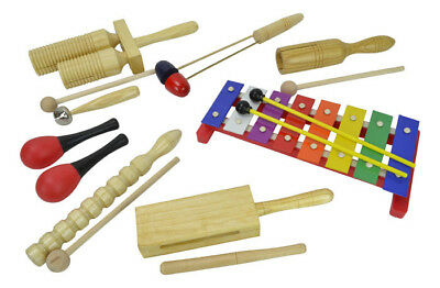 Children's Percussion Set with 8 Items by Bryce