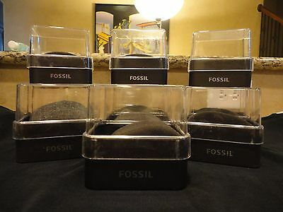 Set of 10 Fossil Watch Cases