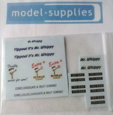 Mr Whippy reproduction waterslide decals (for use with Corgi 428 Ice Cream van)