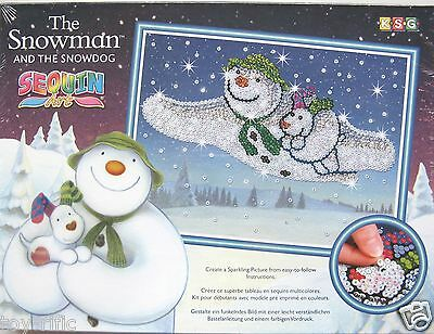 Sequin Art By Ksg - The Snowman And Snow Dog - Brand New In Sealed Box!