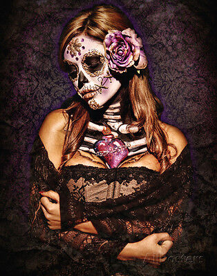 Day Of The Dead Poster Card by Benito, Daveed 28 X 36cm Wall Decor Art Home