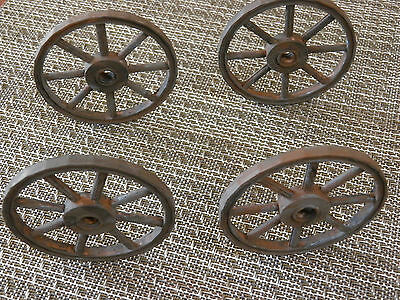"These look like old fashion wagon wheels HAND PAINTED 3"" approx. SET OF 4"