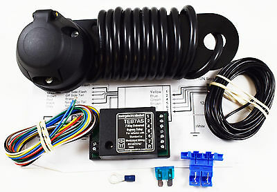 7 Pin Single Electrics Towbar Wiring Kit & 7 Way Bypass Relay Tracked Delivery