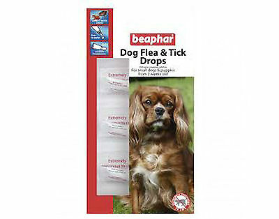 Beaphar Dog Flea And Tick Drops   For Small Dogs And Puppies 12 Week Pack