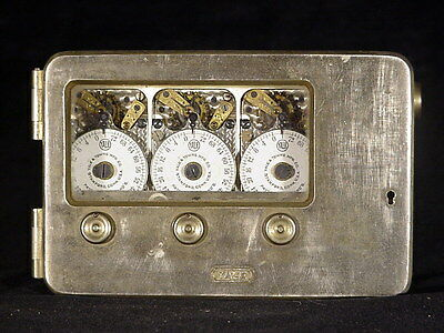 Antique YALE & TOWNE triple K 72 hour Safe Time Lock; Seth Thomas movements USA