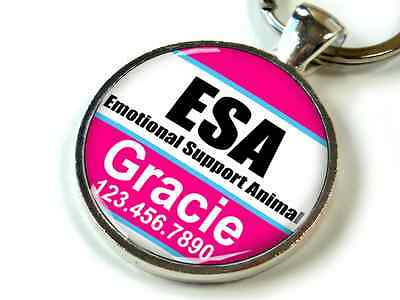 Service dog CUSTOM Emotional Support Animal hot pink white dog cat ID ESA