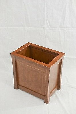 Wooden trash can. Mission style. Oak. NEW! TE-823