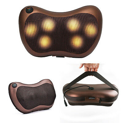 Electric Body Massage Pillow Massager Cushion Neck Back Shoulder Legs Home Car