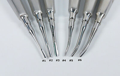 6Pcs Dental Tooth Extraction Root Elevators #1-6 Set Luxating Luxation Elevator