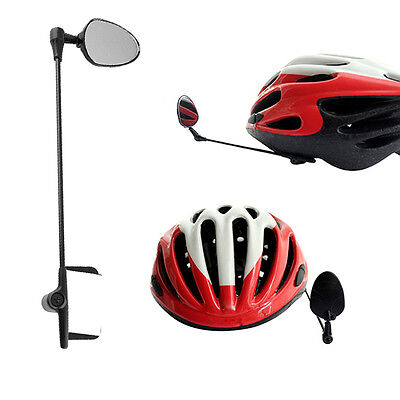 New Bike Bicycle Cycling Mirror Rear View Rearview for Helmet Safety Adjustable