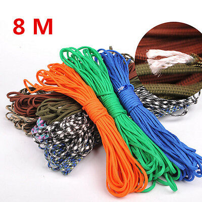New 25Ft 550 Paracord Parachute Cord Lanyard Mil Spec Type III 7 Strand Core