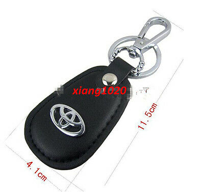 TOYOTA car logo key ring Black PU leather CAR KEY RING