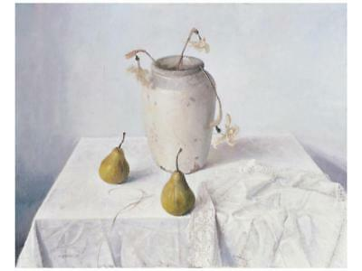 Dried Narcissi with Two Pears Premium Giclee Print by Easton, Arthur 30 X 23cm