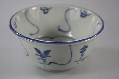 Chinese Vintage Handpainted Blue And White Bowl