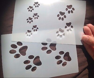 painting stencil set Pet Paws Cat Dog for decoration DIY projects