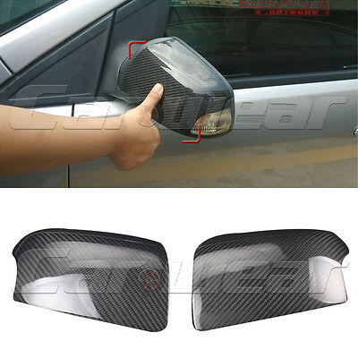 Carbon Fiber Side Rearview Mirror Cover Cap for Ford Focus MK2 07-13 Sticker