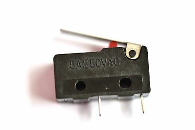 Mini Micro switch 2pin NO with comm 5A@250V with LEVER KW11