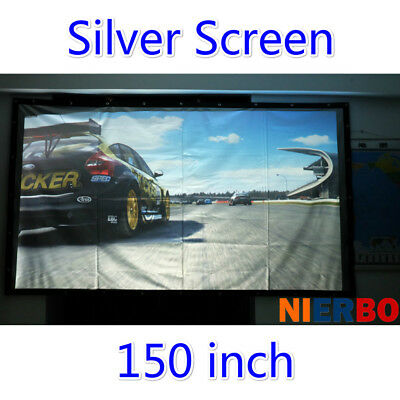 150 Inch Projector Screen 3D Portable Projection Screen Game Education Meeting