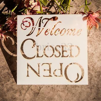 Welcome Airbrush Template Painting Stencils Scrapbooking Decor Art Wall Craft
