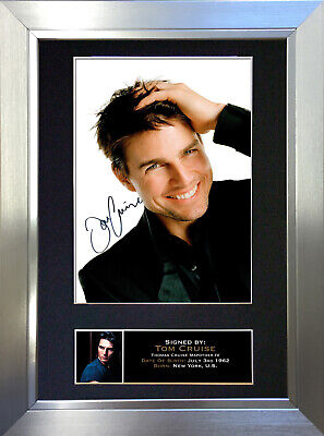 TOM CRUISE Signed Autograph Mounted Reproduction Photo A4 Print no103