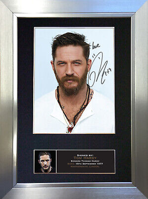 TOM HARDY Signed Autograph Mounted Reproduction Photo A4 Print no580