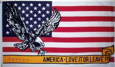 5' x 3' America Love It or Leave It Flag United States USA US American  Banner