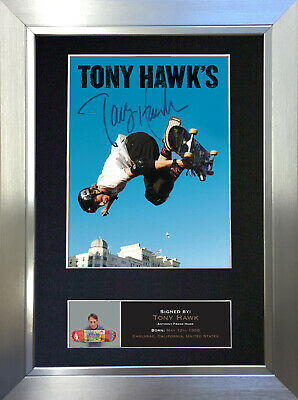 TONY HAWK Signed Autograph Mounted Reproduction Photo A4 Print no497