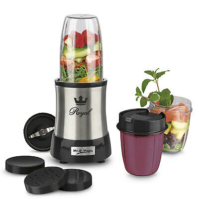 Mr Magic Nutrition Mixer Royal Standmixer 10tlg Edelstahl 700W Smoothie Maker