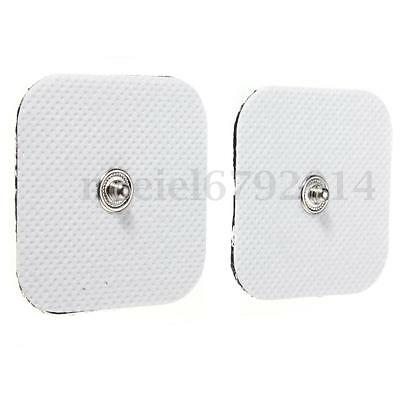 Square Tens Machine Replacement Electrode Pads Massagers Reusable Self Adhesive