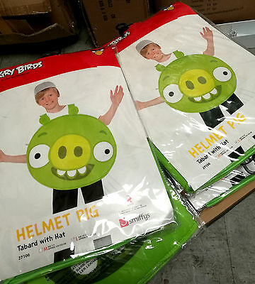 12 x Wholesale Joblot Smiffy's Angry Bird Kids Fancy Dress Pig Costume Green